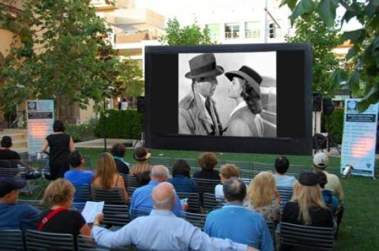The City of Beverly Hills hosts Sunday Night movies screened on a 20-foot inflatable screen at the hidden gem of a park, the Beverly Cañon Gardens.