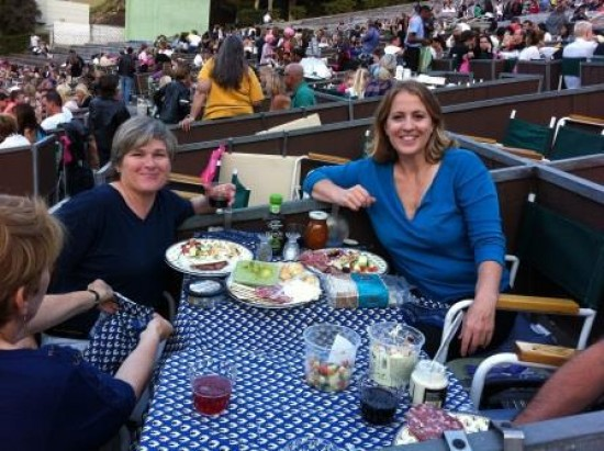 The see-and-be-seen box seats at the Hollywood Bowl offer a great vantage and cozy seating for movie sing-alongs