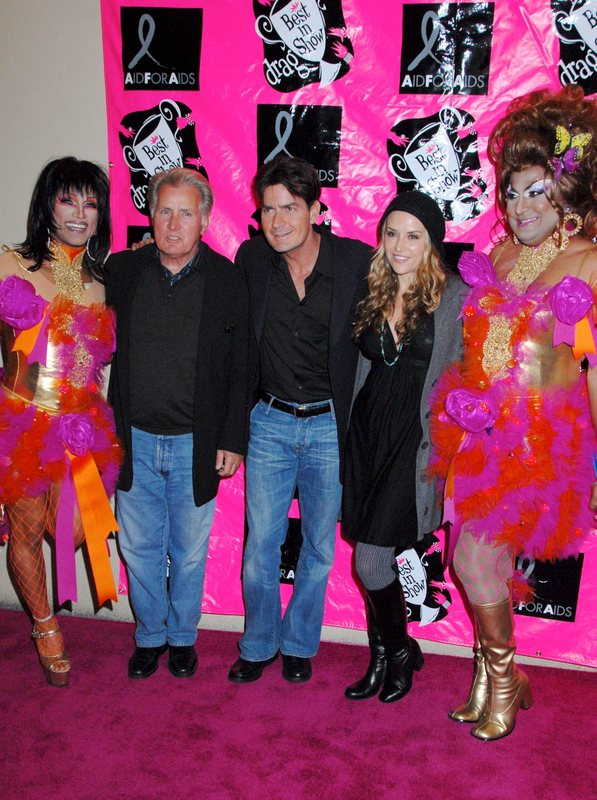Martin Sheen, Charlie Sheen and Brooke Mueller attend the Legendary 5th Annual Best In Drag Show and Fundraiser for Aid For AIDS at the Orpheum Theater, Los Angeles.  (10/14/07) ©Brandon Charles/jpistudios.com 310-657-9661