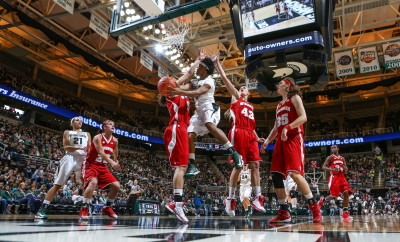 "Image of MSU's Jasmine Thomas in ""An Unexpected Win."""