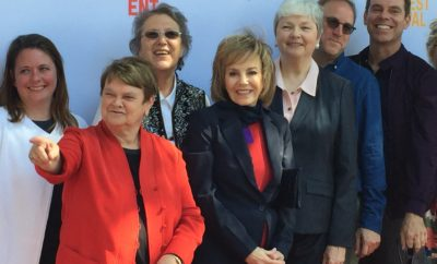"Four former legislators and stars of ""Political Animal"" at center of the red carpet: Sheila Kuehl, Jackie Goldberg, Carole Migden and Christine Kehoe."