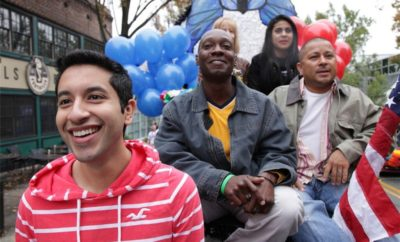 """Moises Serrano, front, the subject of """"Forbidden,"""" premiering at Outfest 2016."""