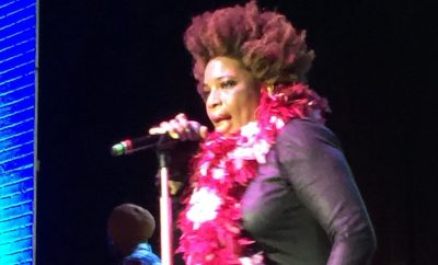 Macy Gray performing at An Evening With Women benefit for LAGLC.