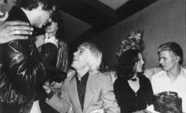 Danny Fields, Iggy Pop, Lisa Robinson and David Bowie.