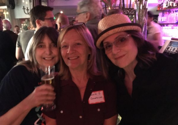 LA Blade Launch with Renee Sotile, left, Goweho editor Laurie Schenden, and Mary Jo Godges.