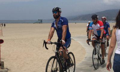 AIDS/Lifecycle cyclists on the last coastal leg in Santa Monica.