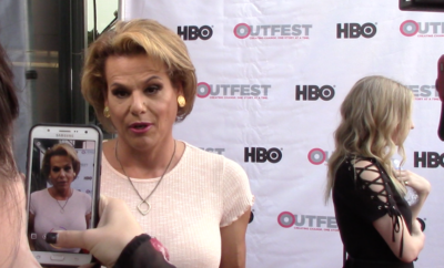 """Transparent"" star Alexandra Billings on the red carpet."