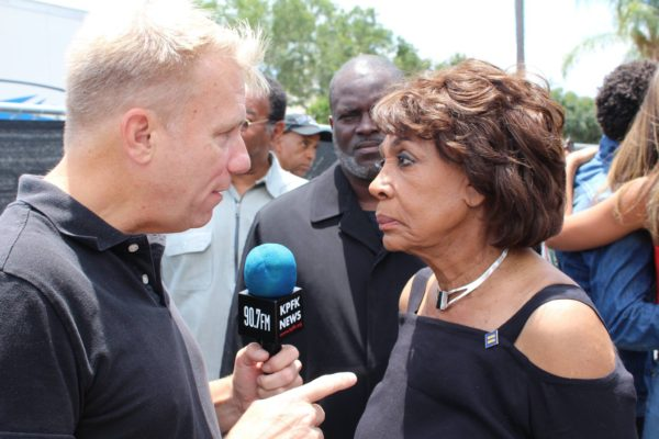 Harrison with Rep. Maxine Waters
