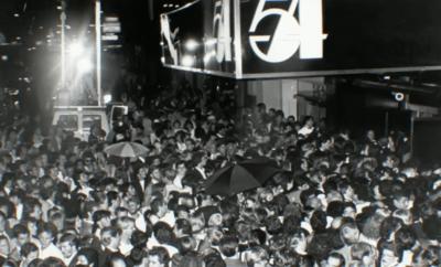 "Opening night film ""Studio 54."""