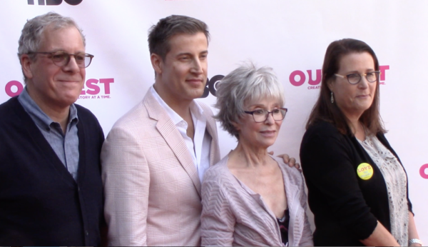 "Jeff Kaufman, Christopher Racster, Rita Moreno, Marcia Ross, at ""Every Act of Life"" screening."