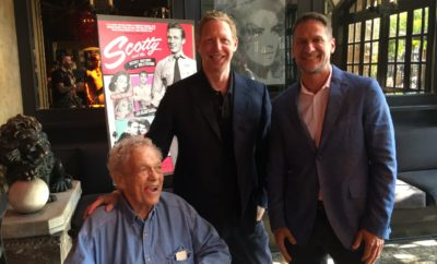 Scotty Bowers with director Matt Tyrnauer and West Hollywood Mayor John D'Amico.