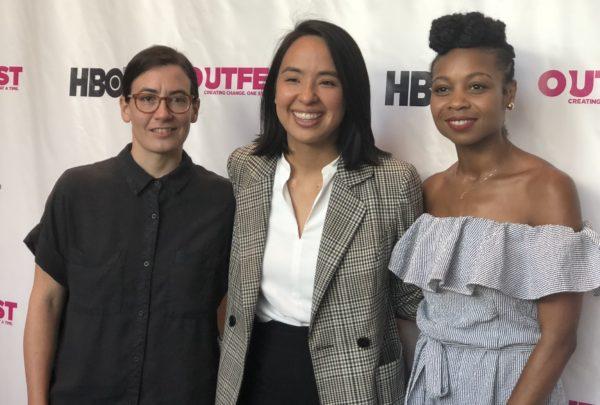 Filmmaker panelists Sara Shaw, Ashly Perez, Sheria Irving