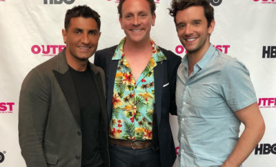 Goweho's Vic Gerami with Drew Droege, director Michael Urie (from left).