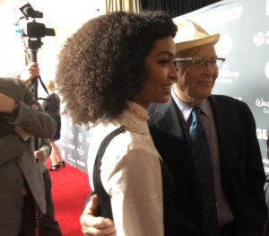 Yara Shahidi with legendary show creator Norman Lear.